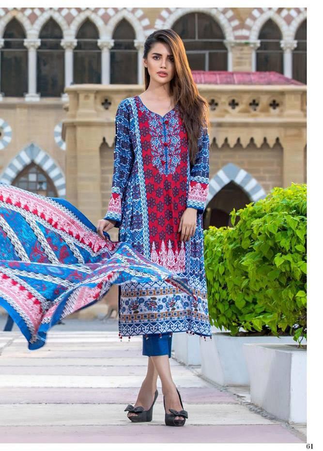 Al Zohaib Printed Cotton Unstitched 3 Piece Suit MF17C 9A