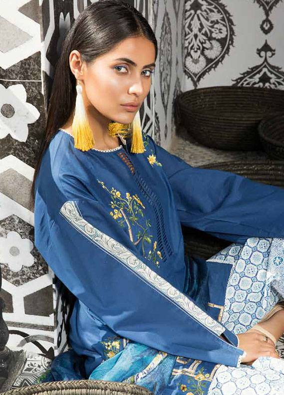 Mahgul by Al Zohaib Embroidered Lawn Unstitched 3 Piece Suit MG18L 2B - Spring / Summer Collection