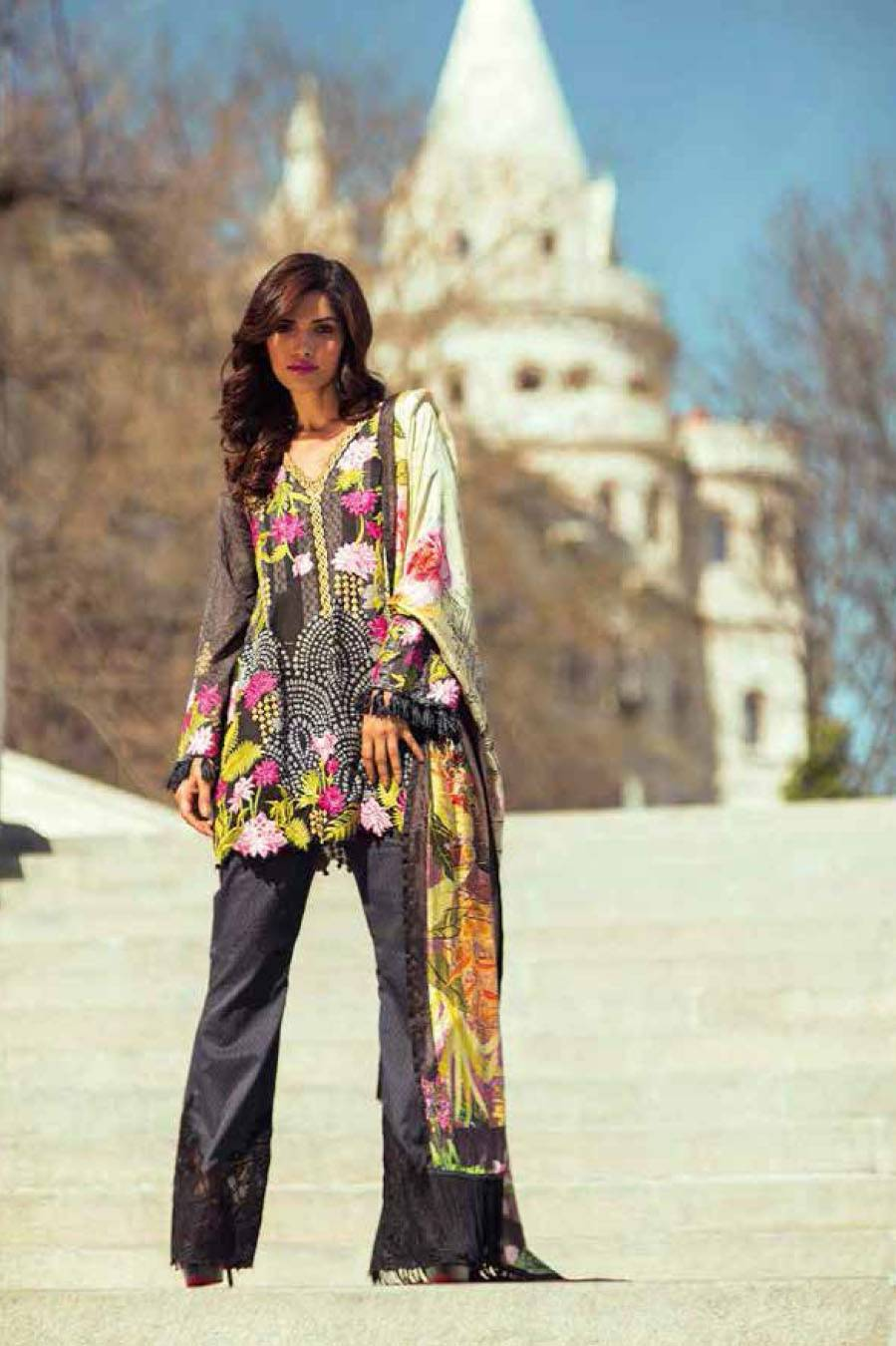 Mina Hasan By Shariq Embroidered Lawn Unstitched 3 Piece Suit MH17L 1A