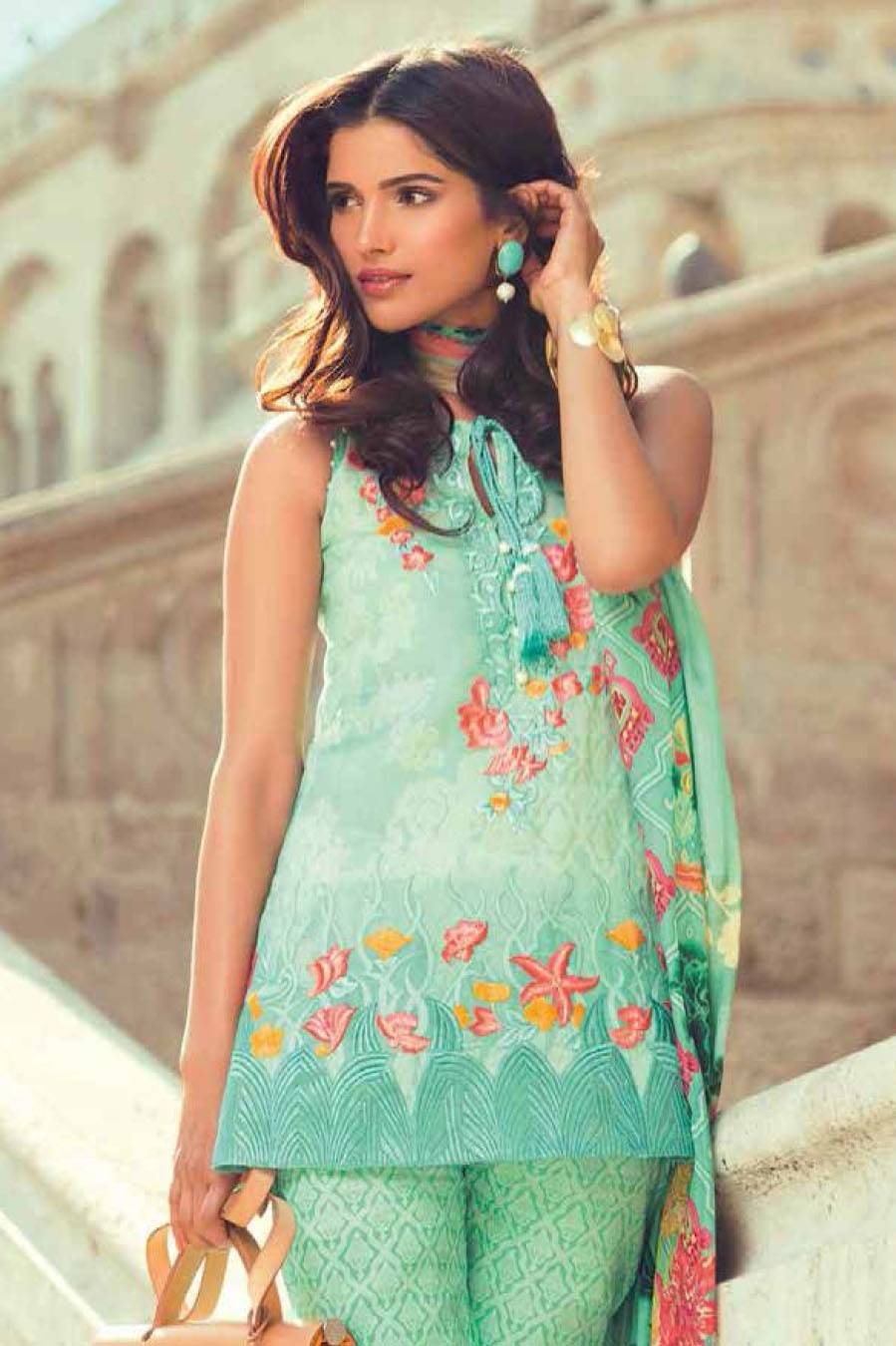 Mina Hasan By Shariq Embroidered Lawn Unstitched 3 Piece Suit MH17L 2B