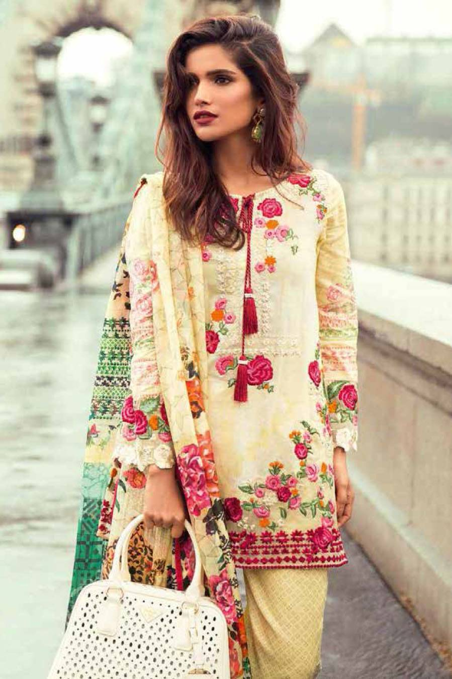 Mina Hasan By Shariq Embroidered Lawn Unstitched 3 Piece Suit MH17L 3A