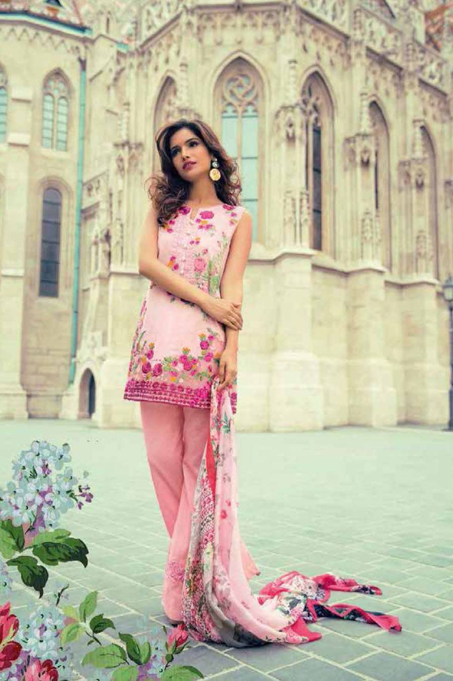 Mina Hasan By Shariq Embroidered Lawn Unstitched 3 Piece Suit MH17L 3B