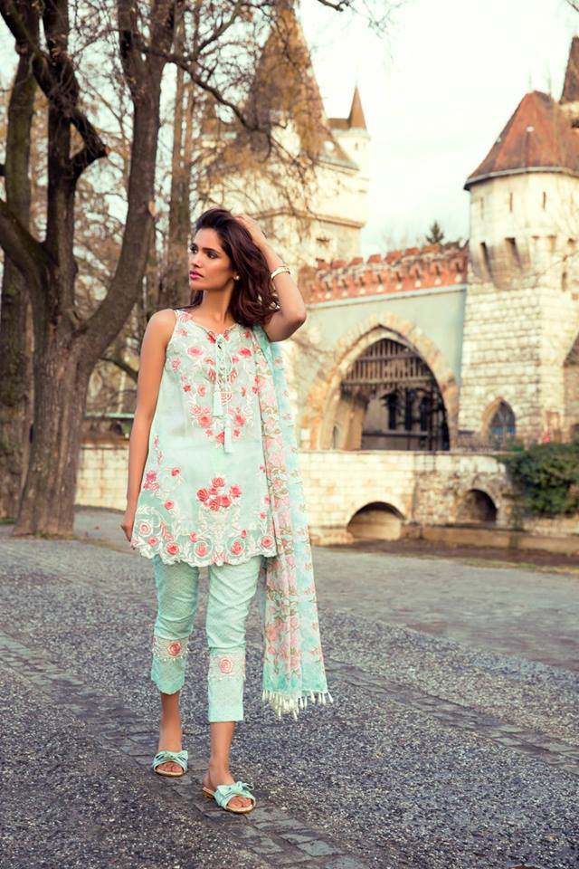 Mina Hasan By Shariq Embroidered Lawn Unstitched 3 Piece Suit MH17L 6B