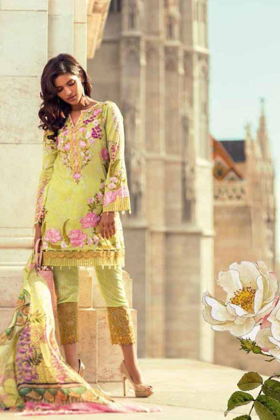 Mina Hasan By Shariq Embroidered Lawn Unstitched 3 Piece Suit MH17L 7B