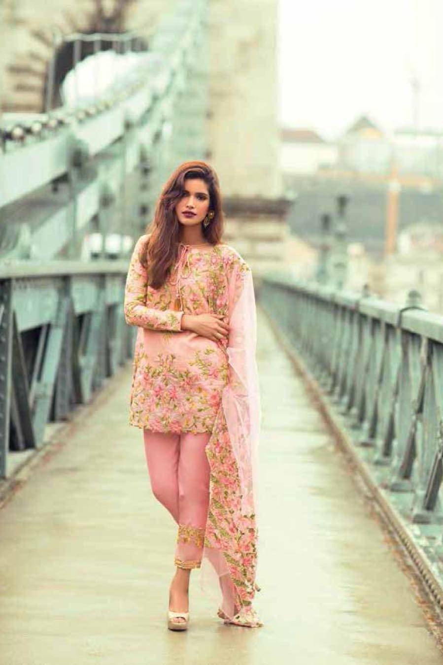 Mina Hasan By Shariq Embroidered Lawn Unstitched 3 Piece Suit MH17L 9A