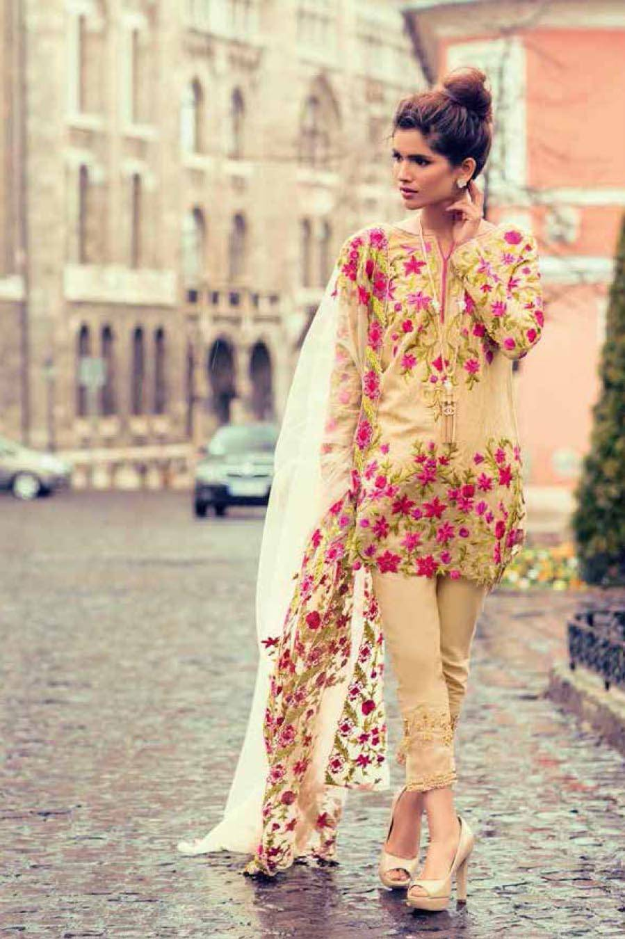 Mina Hasan By Shariq Embroidered Lawn Unstitched 3 Piece Suit MH17L 9B