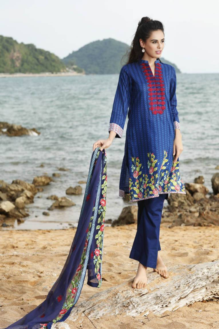 Al Zohaib Embroidered Lawn Unstitched 3 Piece Suit MN17E 10A