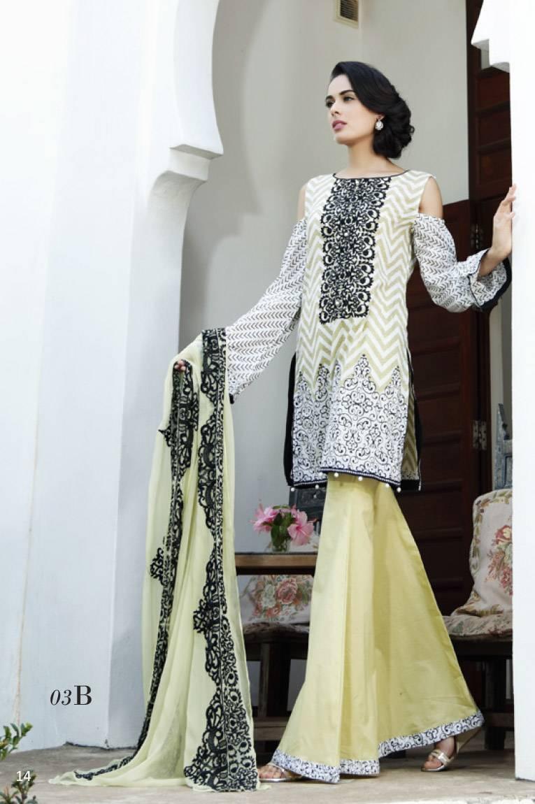 Al Zohaib Embroidered Lawn Unstitched 3 Piece Suit MN17E 3B