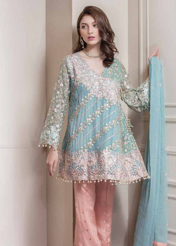 Maryum N Maria Embroidered Chiffon Unstitched 3 Piece Suit MNM17C 02