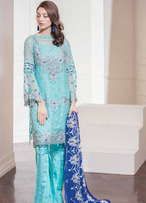 Maryum N Maria Embroidered Chiffon Unstitched 3 Piece Suit MNM17C 05