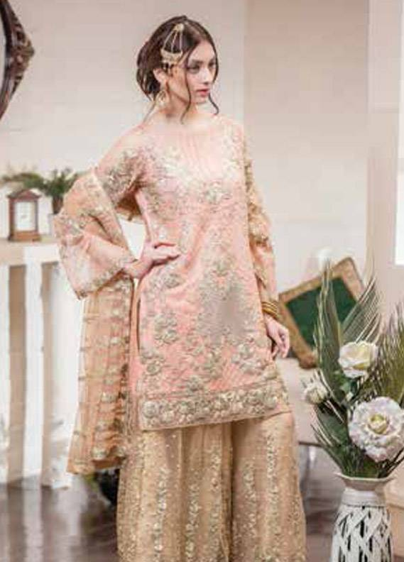 Maryum N Maria Embroidered Chiffon Unstitched 3 Piece Suit MNM17C 10