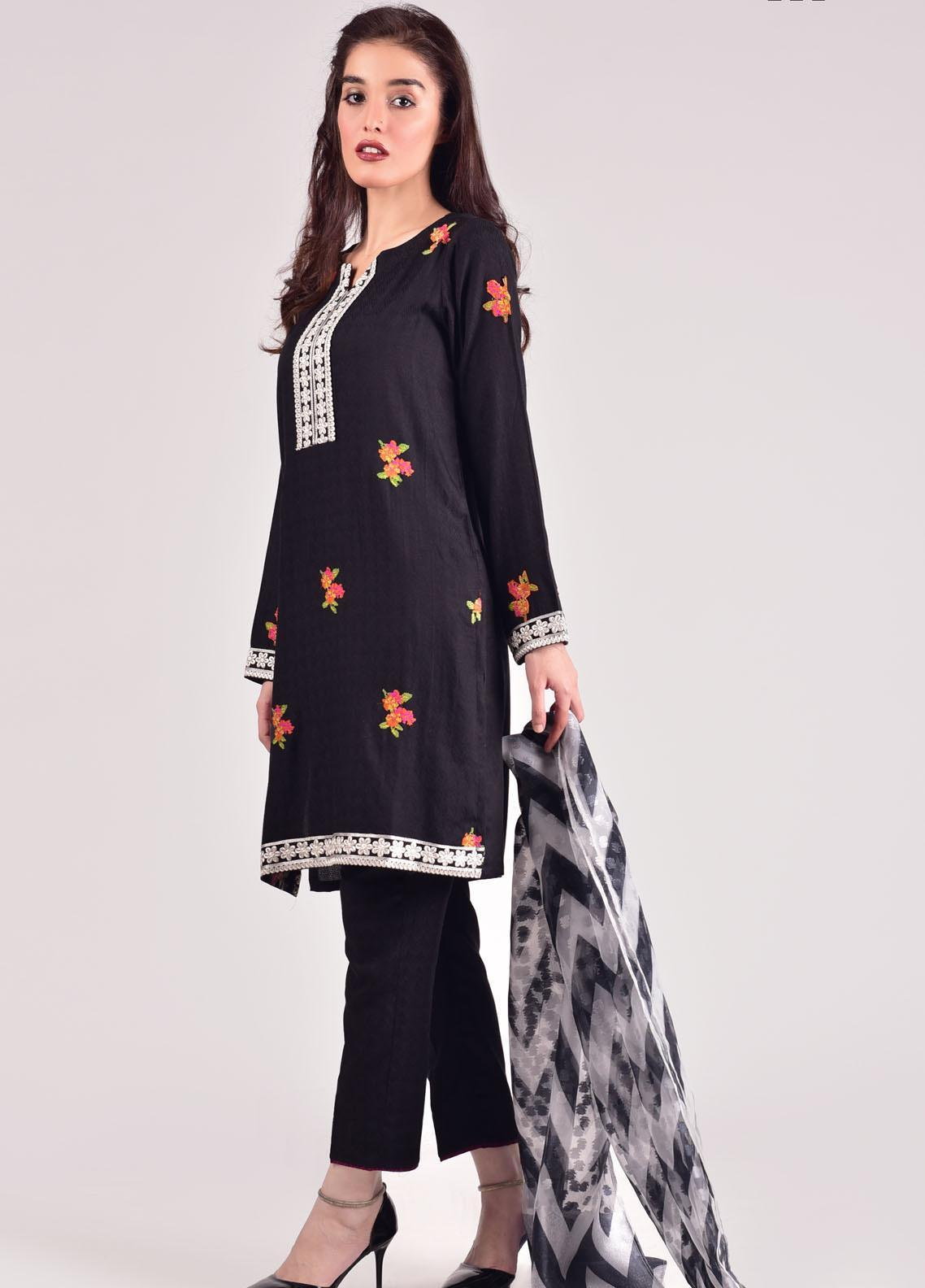 Mosaic Embroidered Viscose Stitched 3 Piece Suit M20WP D-4201