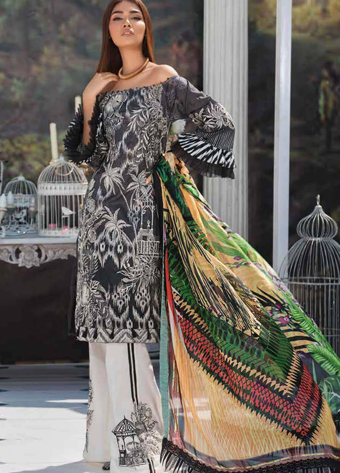 Motifz Embroidered Lawn Unstitched 3 Piece Suit MT19L 2219 CHIC SAFARI - Spring / Summer Collection