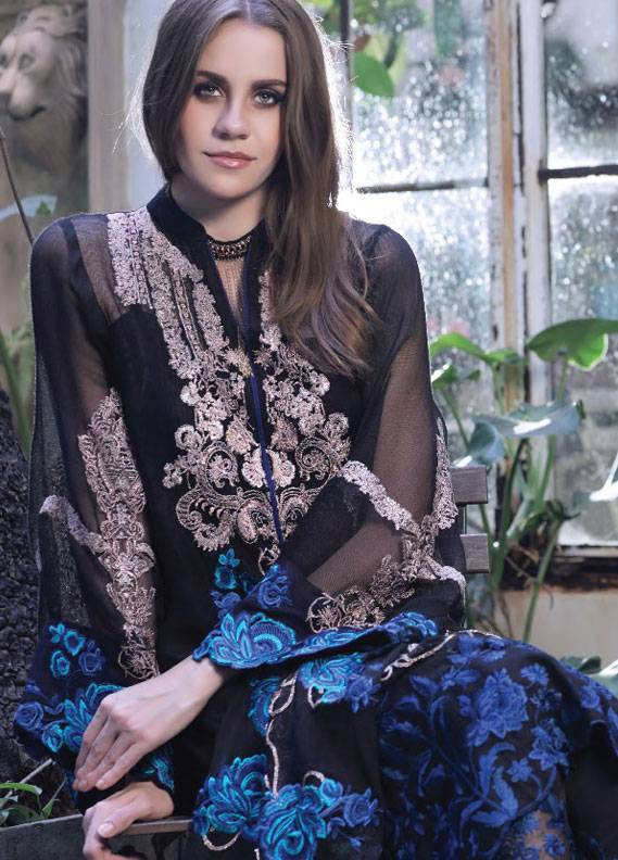 Maria Salman Embroidered Khaadi Net Unstitched 3 Piece Suit MS18K 104