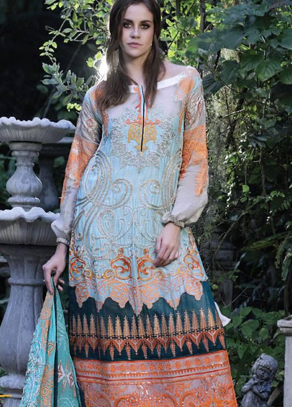 Maria Salman Embroidered Khaadi Net Unstitched 3 Piece Suit MS18K 105