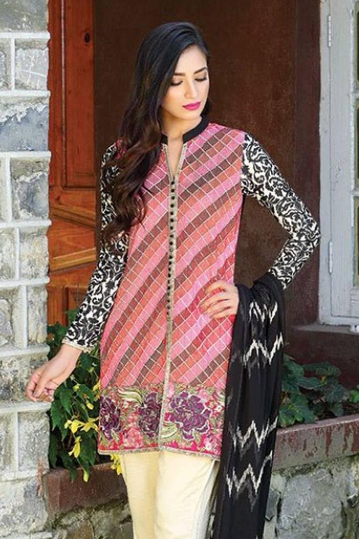Motifz Embroidered Karandi Unstitched 3 Piece Suit MT16W 1509B