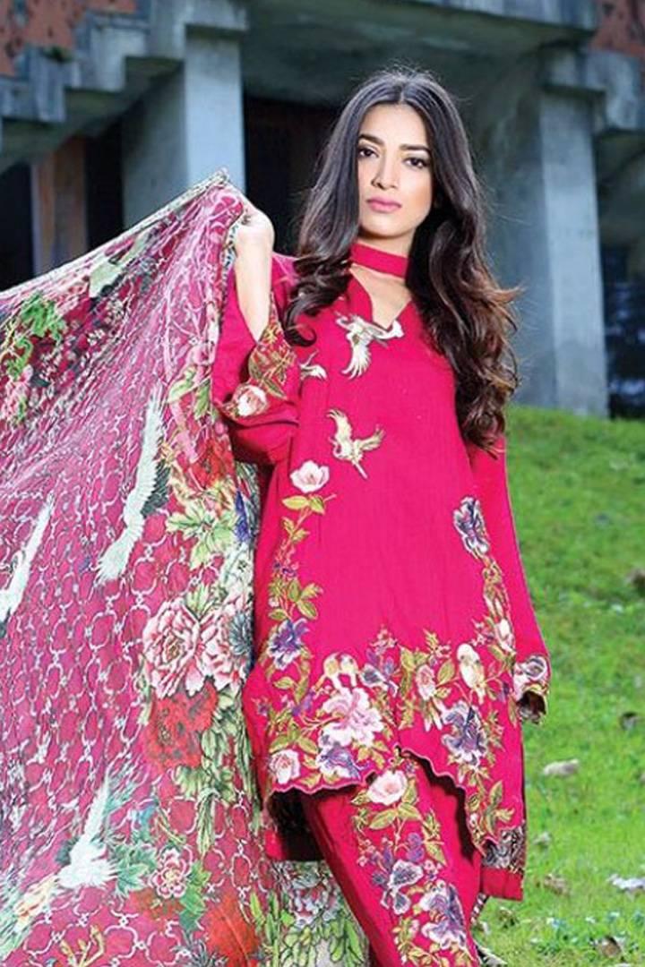 Motifz Embroidered Karandi Unstitched 3 Piece Suit MT16W 1515B