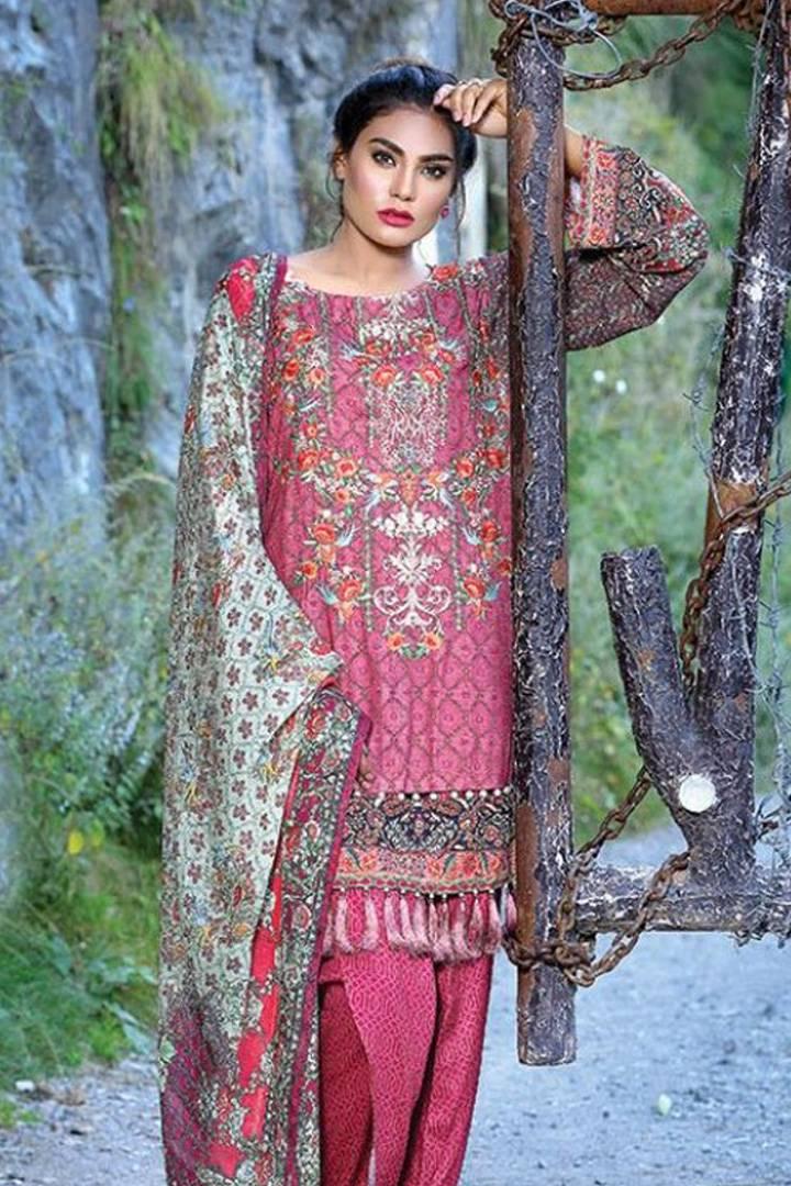 Motifz Embroidered Karandi Unstitched 3 Piece Suit MT16W 1527B