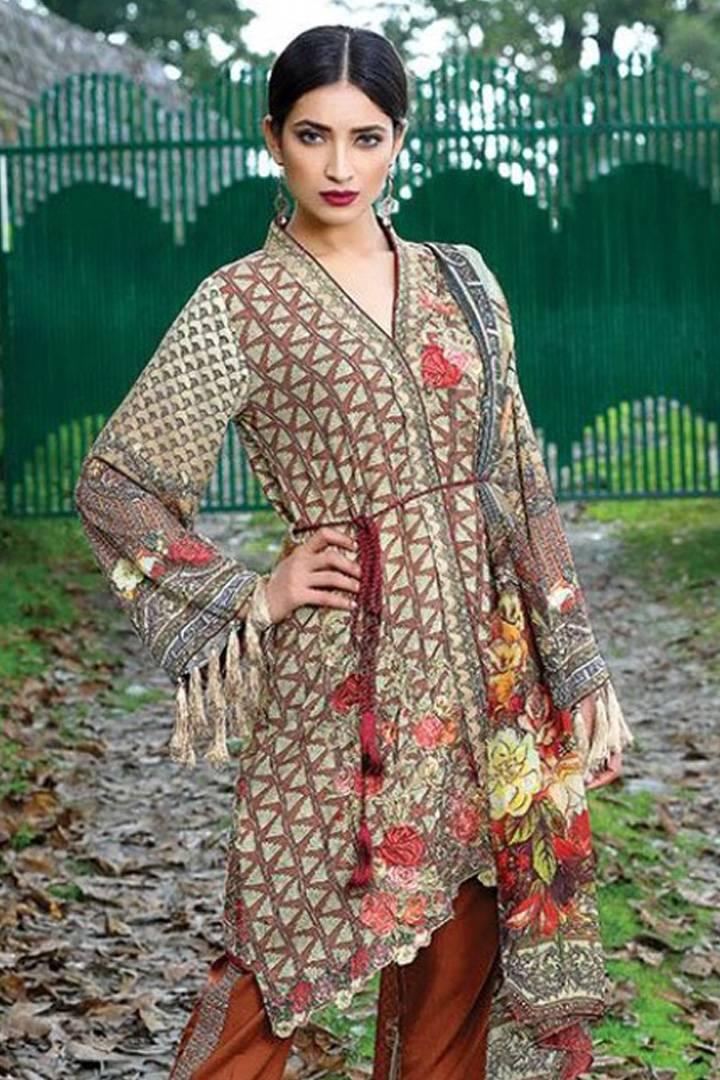 Motifz Embroidered Karandi Unstitched 3 Piece Suit MT16W 1529B