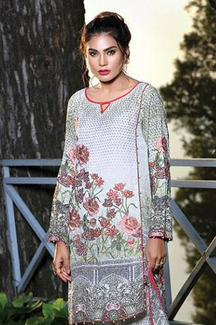 Motifz Embroidered Karandi Unstitched 3 Piece Suit MT16W 1530A