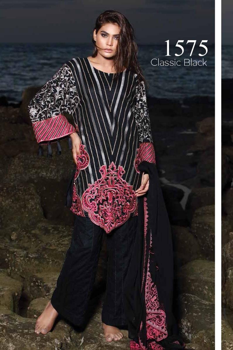 Motifz Embroidered Lawn Unstitched 3 Piece Suit MT17L 1575A