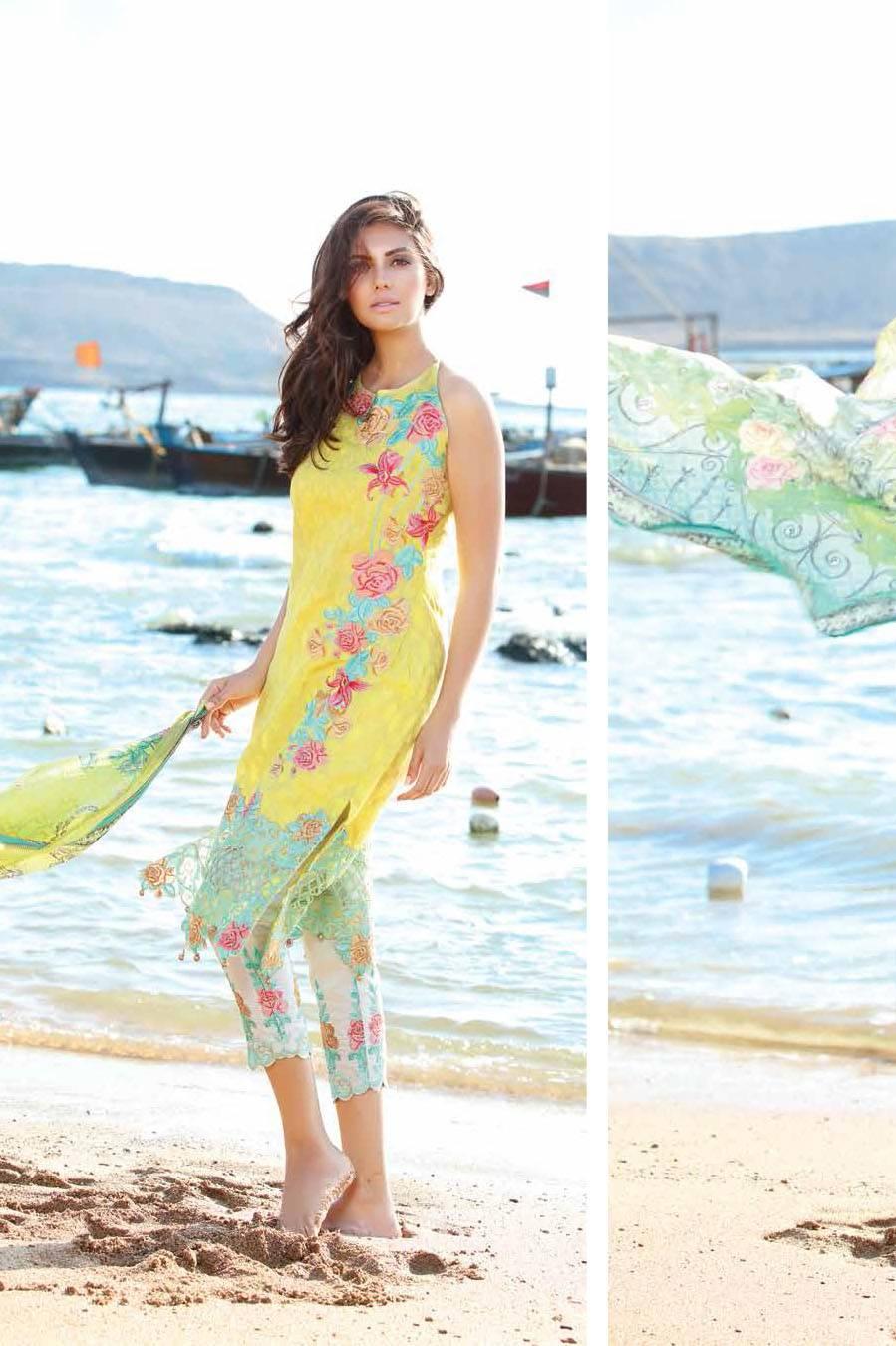 Motifz Embroidered Lawn Unstitched 3 Piece Suit MT17L 1584A