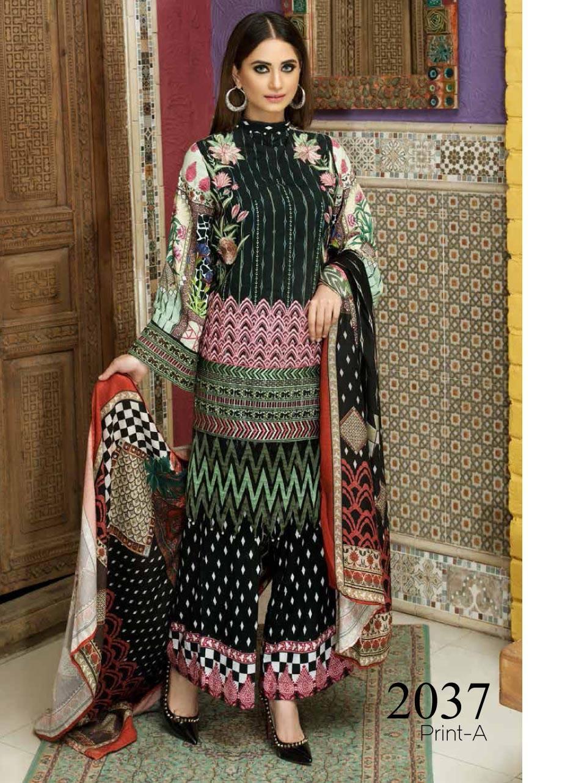 Motifz Embroidered Karandi Unstitched 3 Piece Suit MT17W2 2037 Print-A