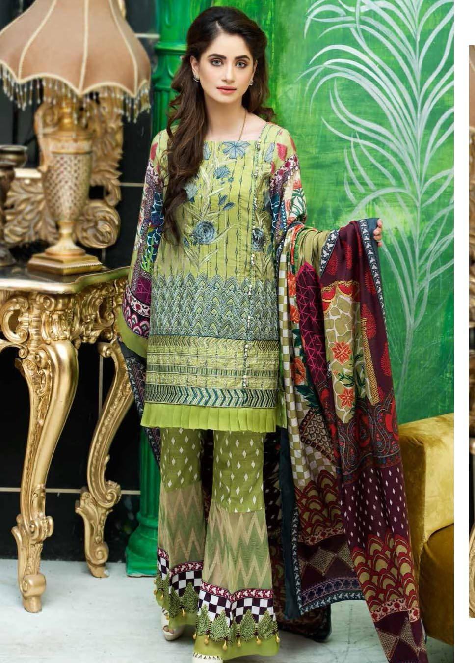 Motifz Embroidered Karandi Unstitched 3 Piece Suit MT17W2 2037 Print-B