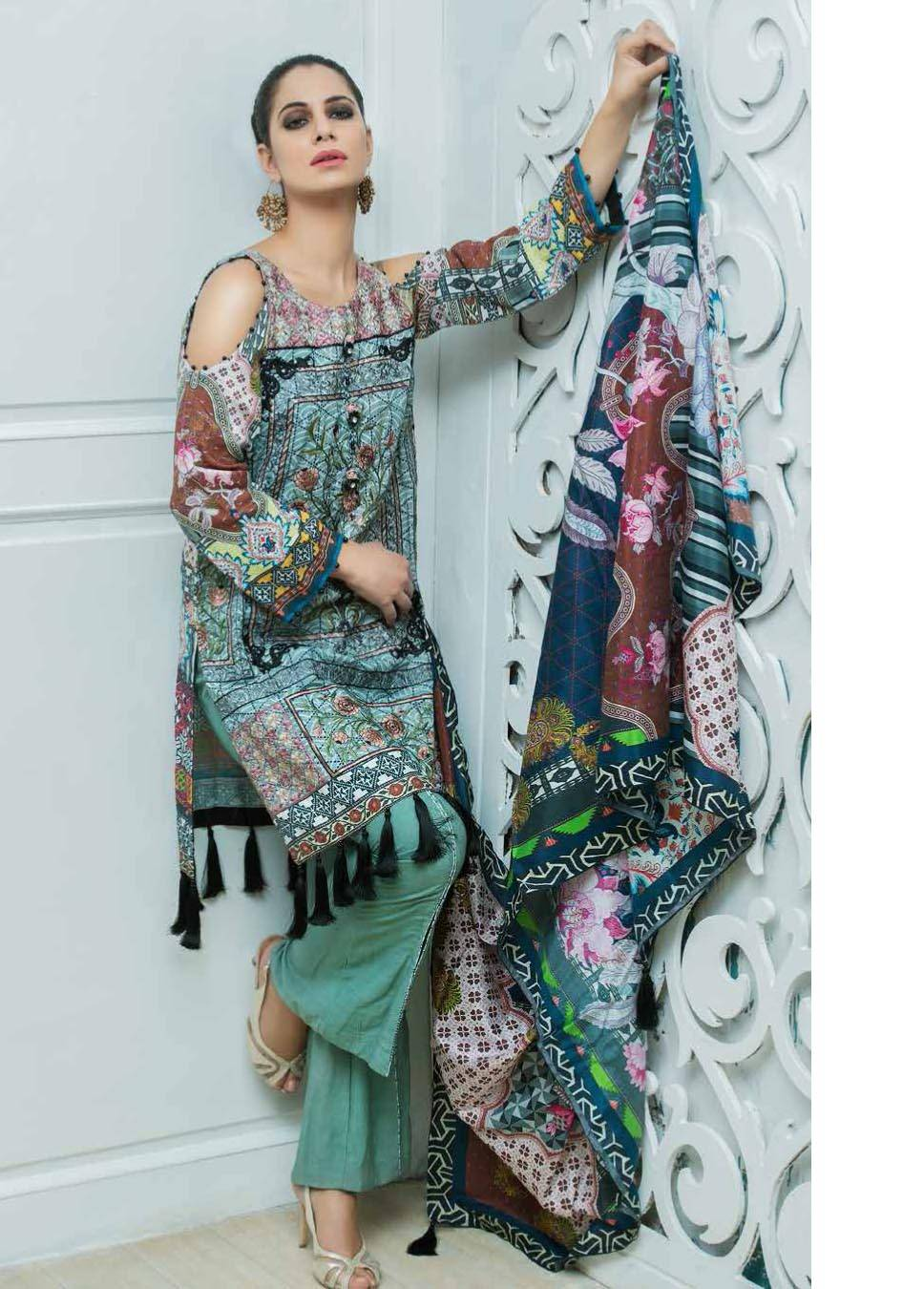Motifz Embroidered Karandi Unstitched 3 Piece Suit MT17W2 2038 Print-A