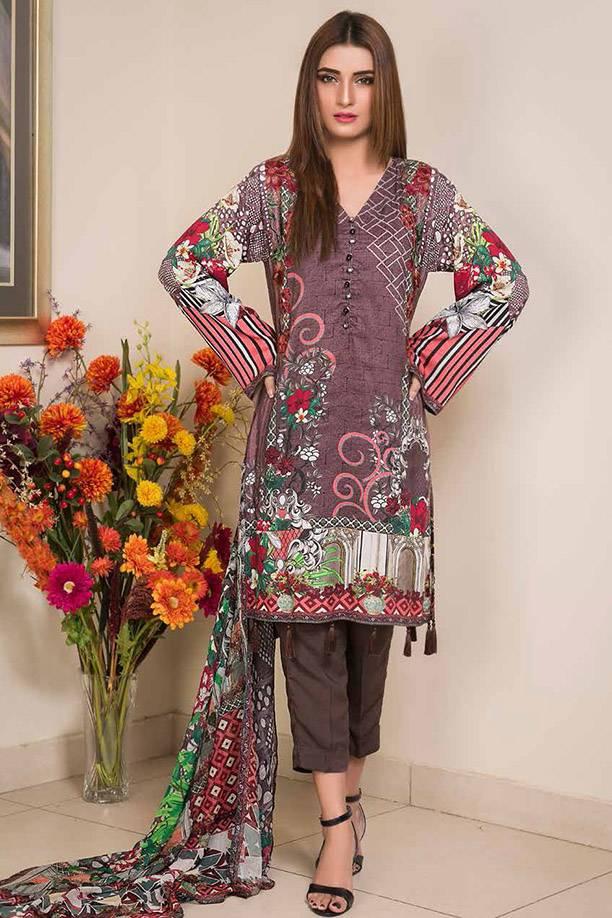 Motifz Printed Linen Unstitched 3 Piece Suit MT17W3 1888A