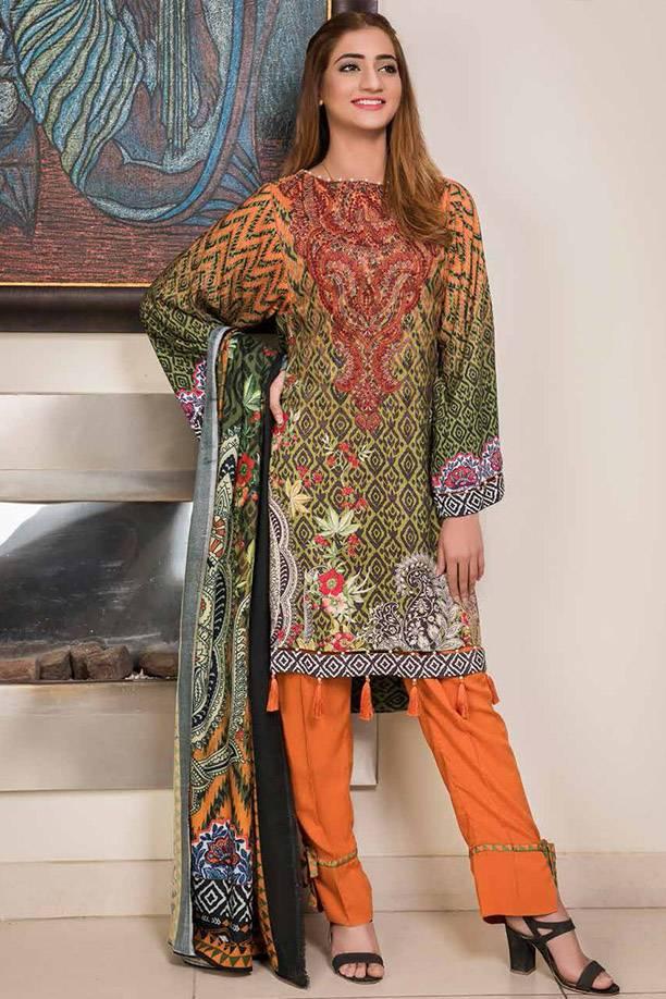 Motifz Printed Linen Unstitched 3 Piece Suit MT17W3 1889B