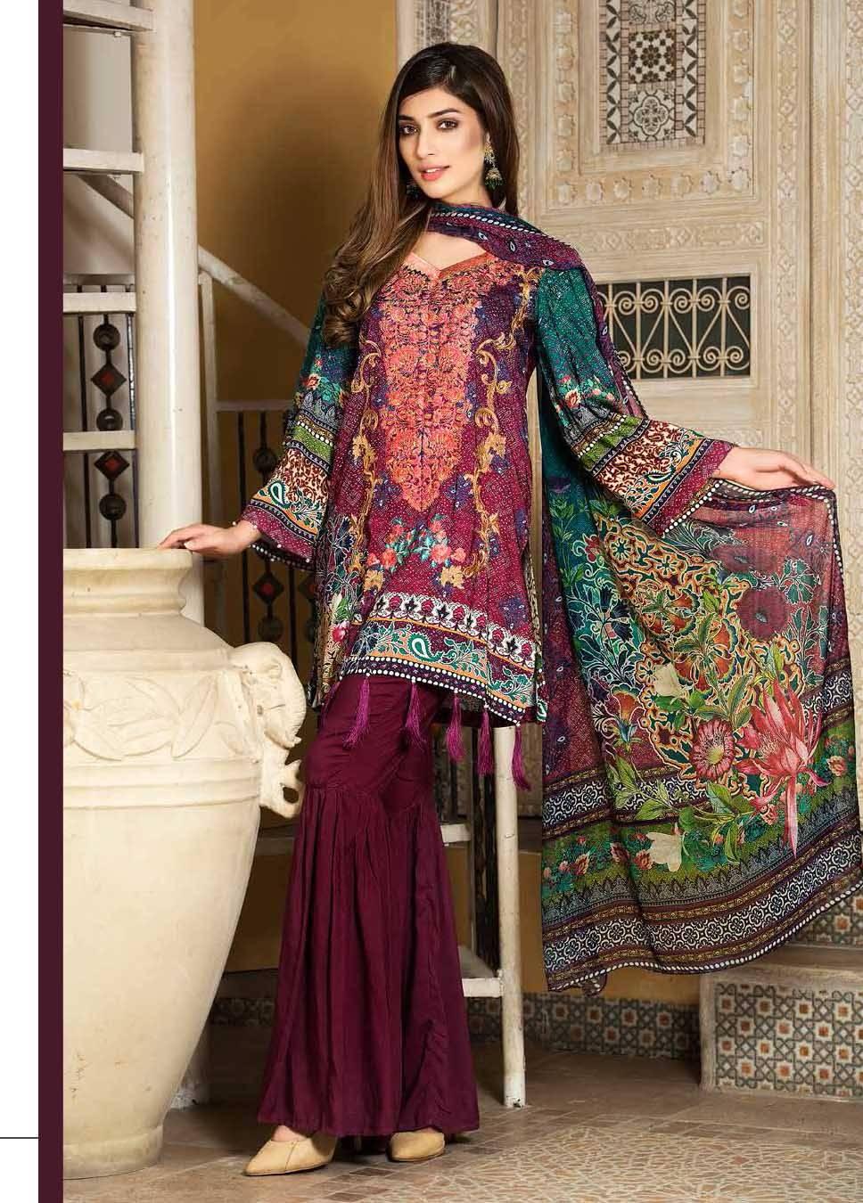 Motifz Embroidered Linen Unstitched 3 Piece Suit MT17W 1871A