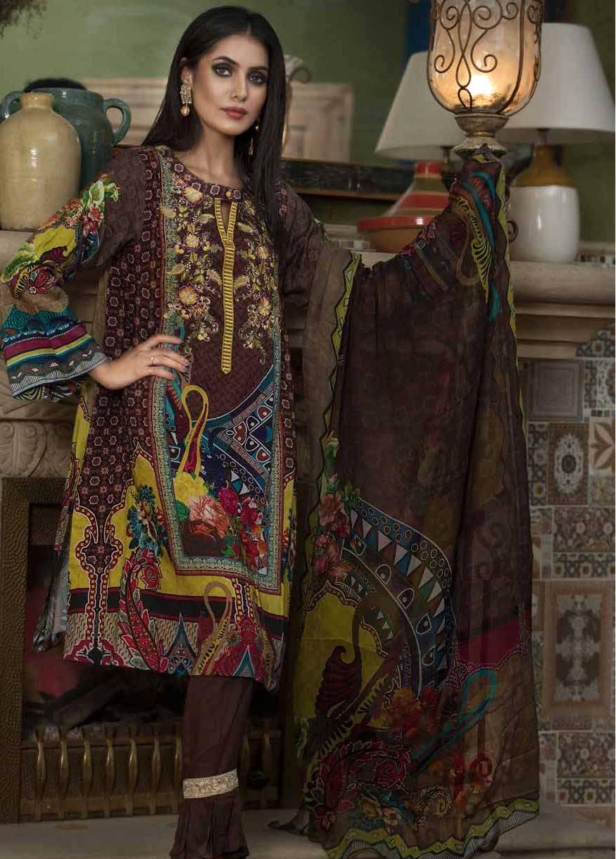 Motifz Embroidered Linen Unstitched 3 Piece Suit MT17W 1875B