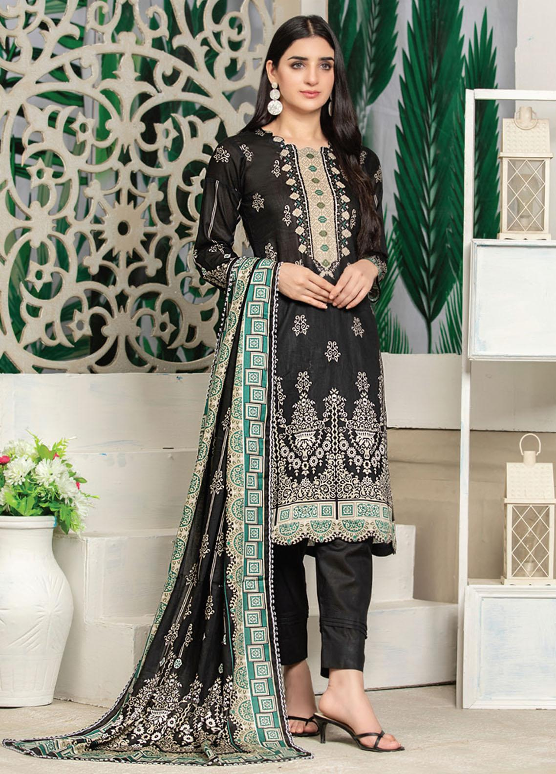 MTF Printed Lawn Suits Unstitched 3 Piece MTF21RS D-01 - Summer Collection