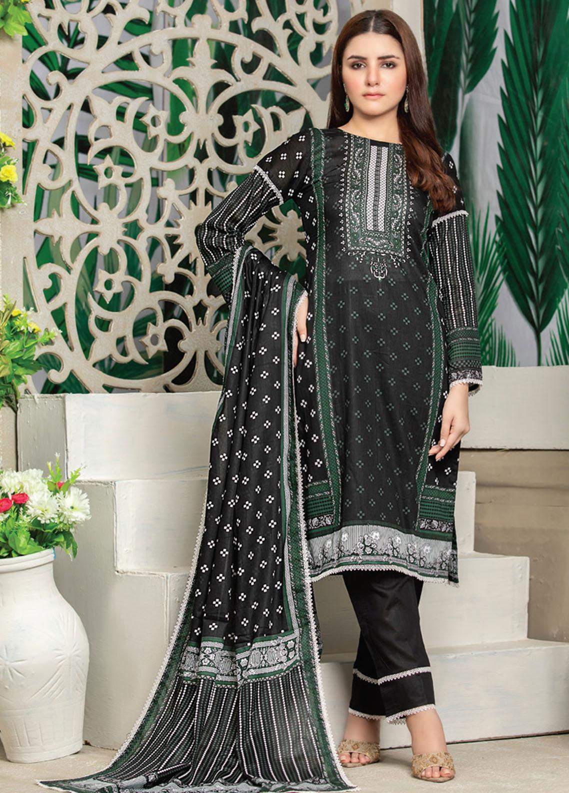 MTF Printed Lawn Suits Unstitched 3 Piece MTF21RS D-02 - Summer Collection