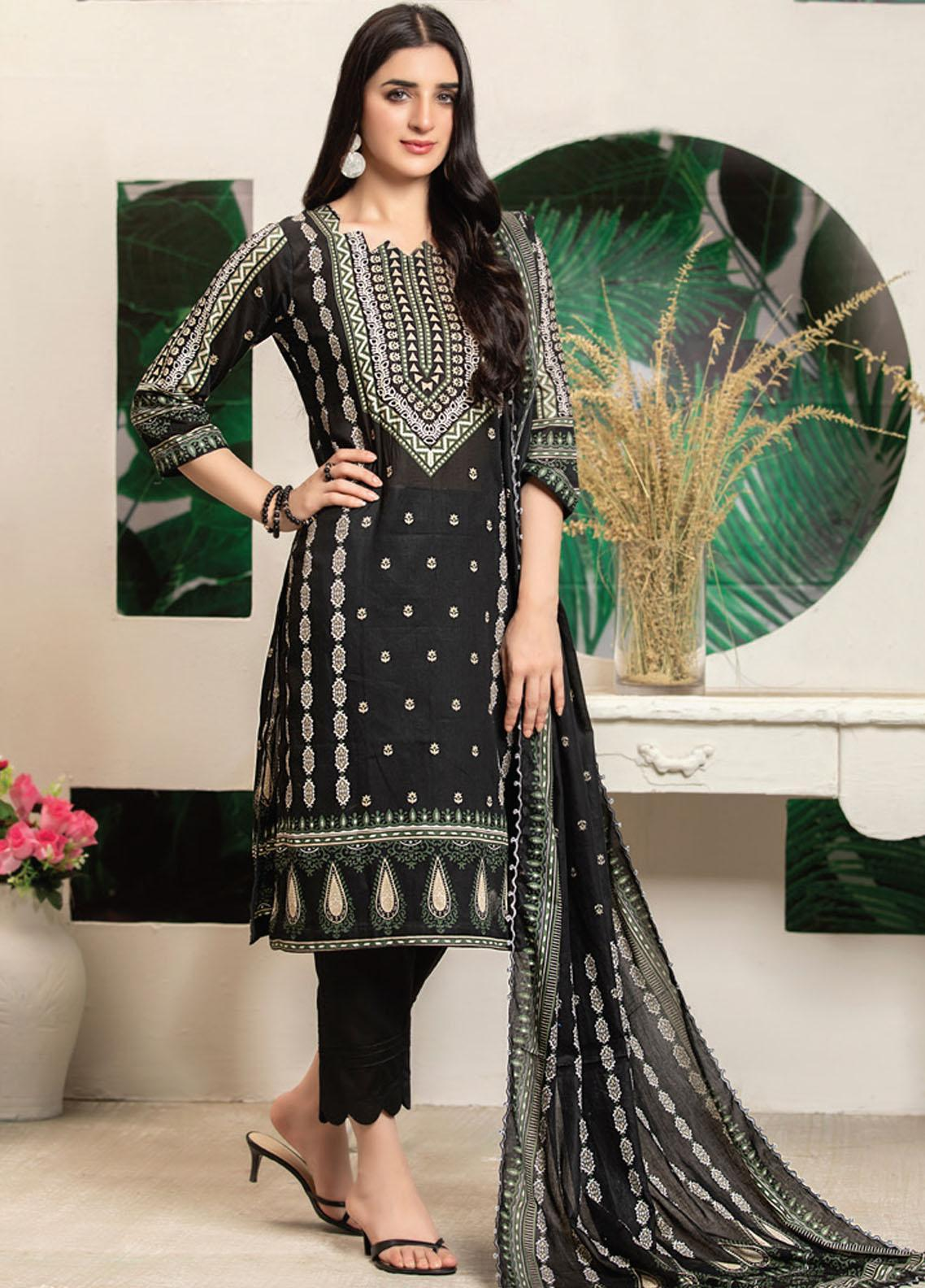 MTF Printed Lawn Suits Unstitched 3 Piece MTF21RS D-03 - Summer Collection