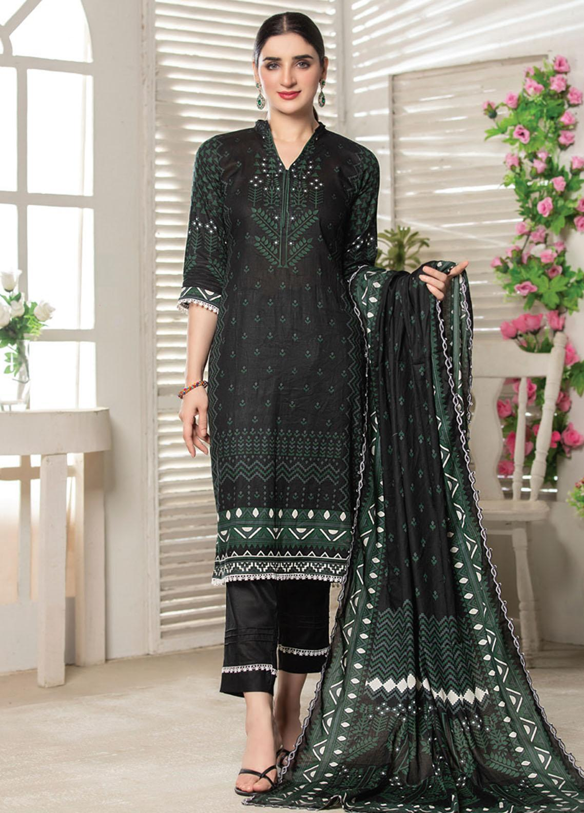 MTF Printed Lawn Suits Unstitched 3 Piece MTF21RS D-04 - Summer Collection