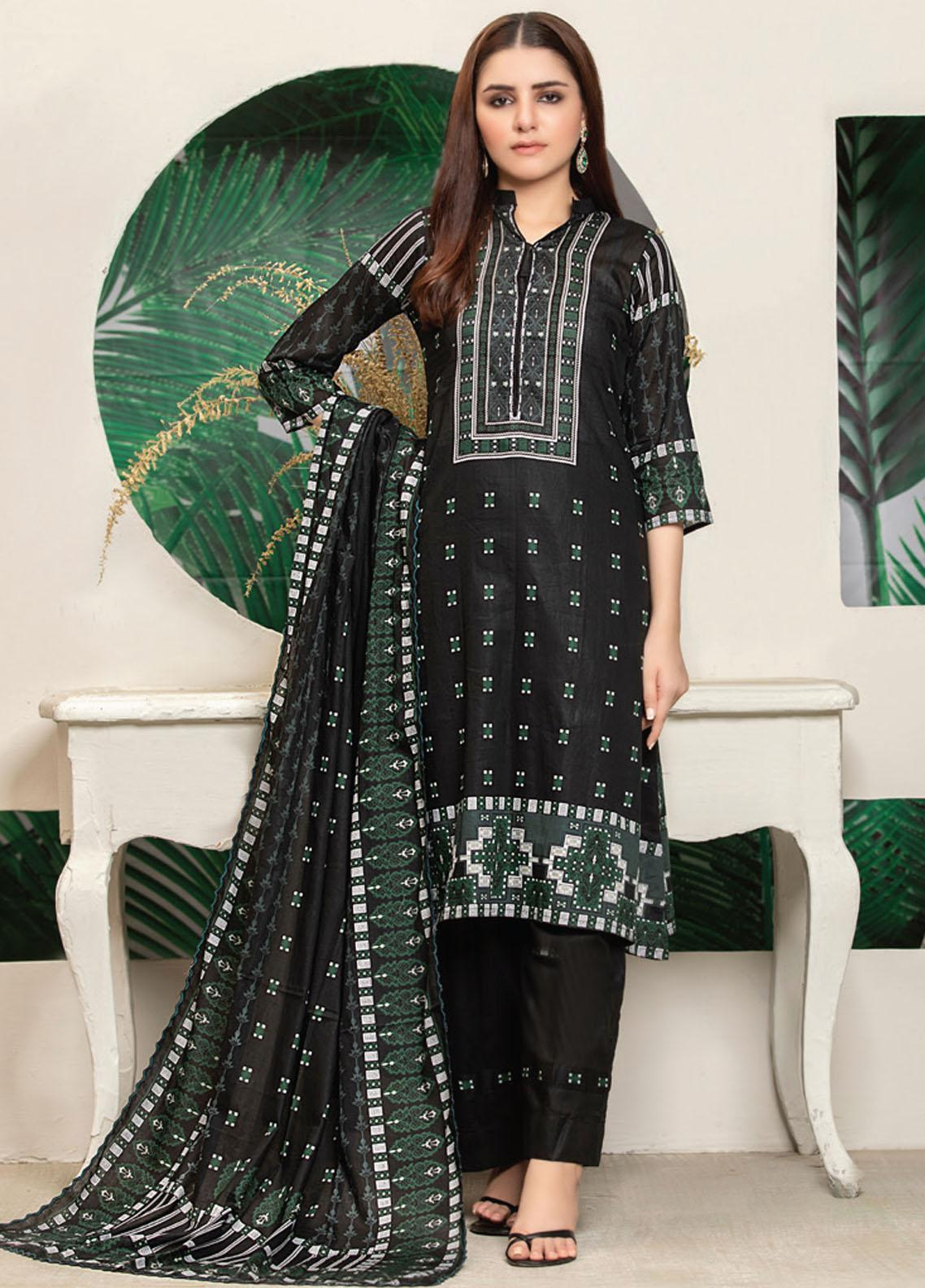 MTF Printed Lawn Suits Unstitched 3 Piece MTF21RS D-05 - Summer Collection