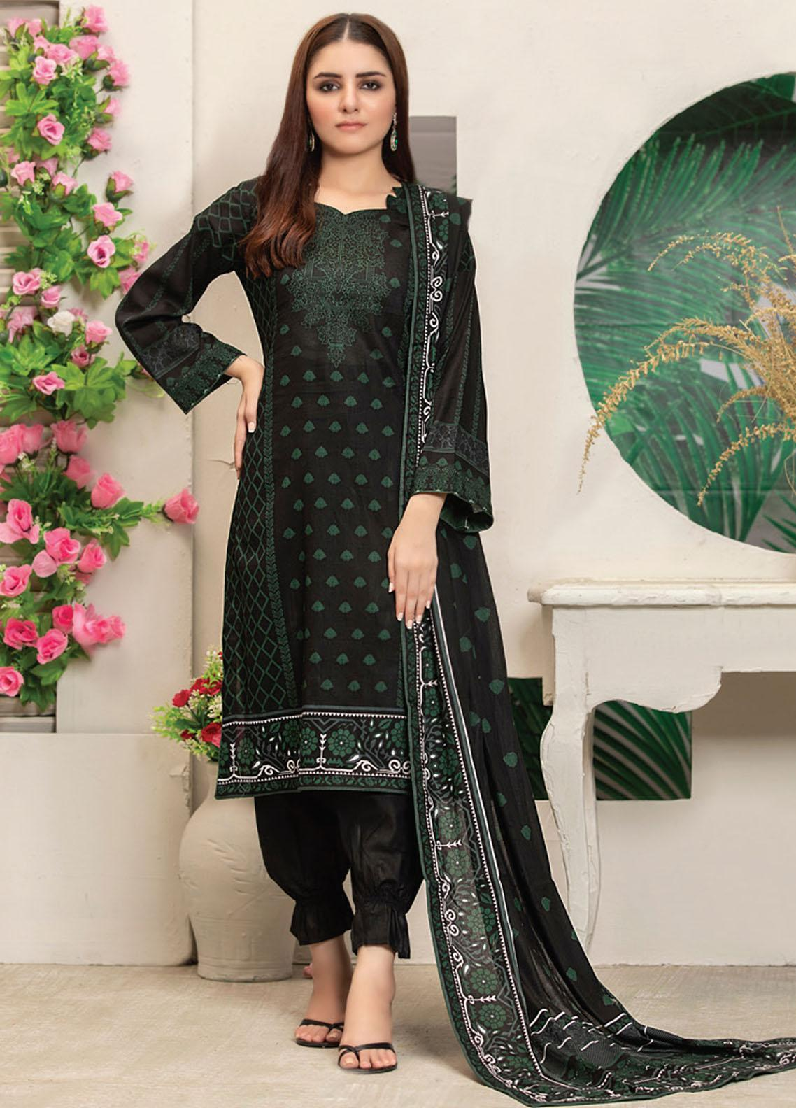 MTF Printed Lawn Suits Unstitched 3 Piece MTF21RS D-06 - Summer Collection