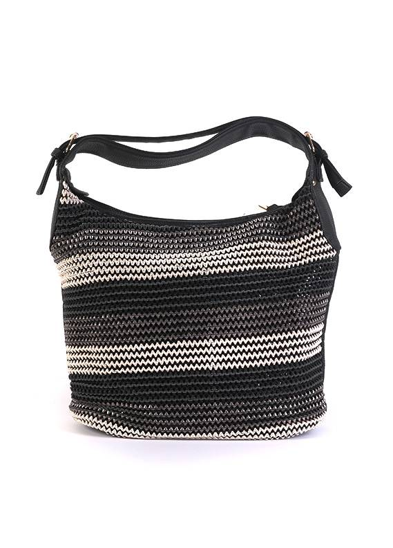 Sheep Leather Tote  Handbags for Women - Black with  Keyring