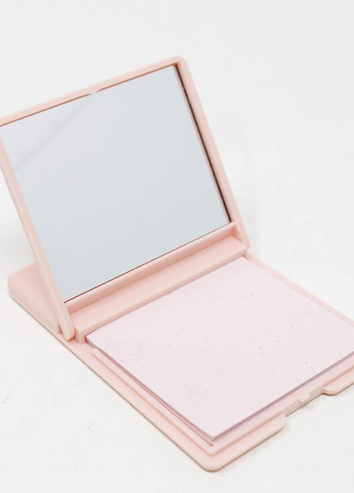 Mumuso Blotting Papers with Mirror - Pink