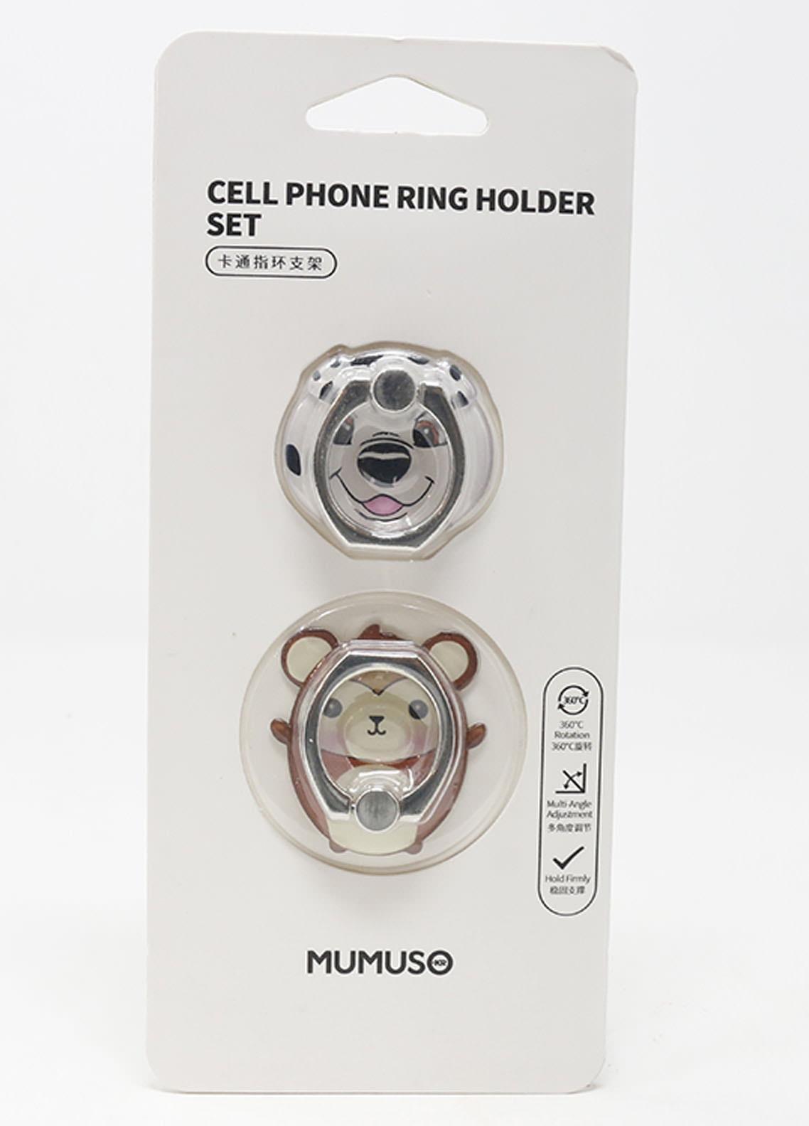 Mumuso Cell Phone Ring Holder Set (Animal)