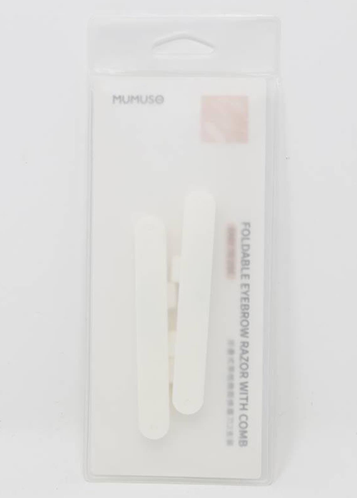 Mumuso Foldable Eyebrow Razor With Comb (Precision Cover/2-Pack)