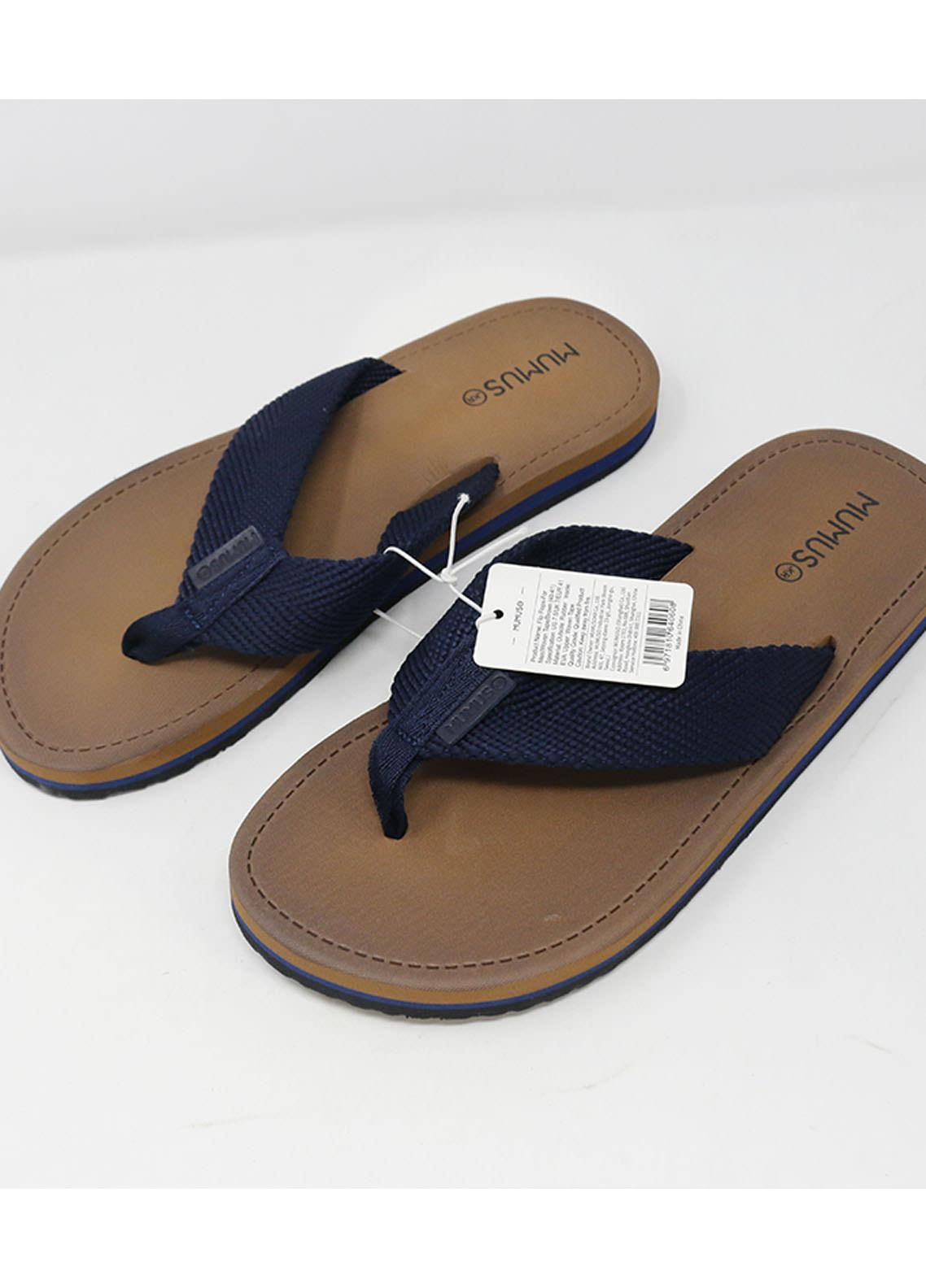 Mumuso Casual Style  Flat Flip Flop 03 M-BROWN