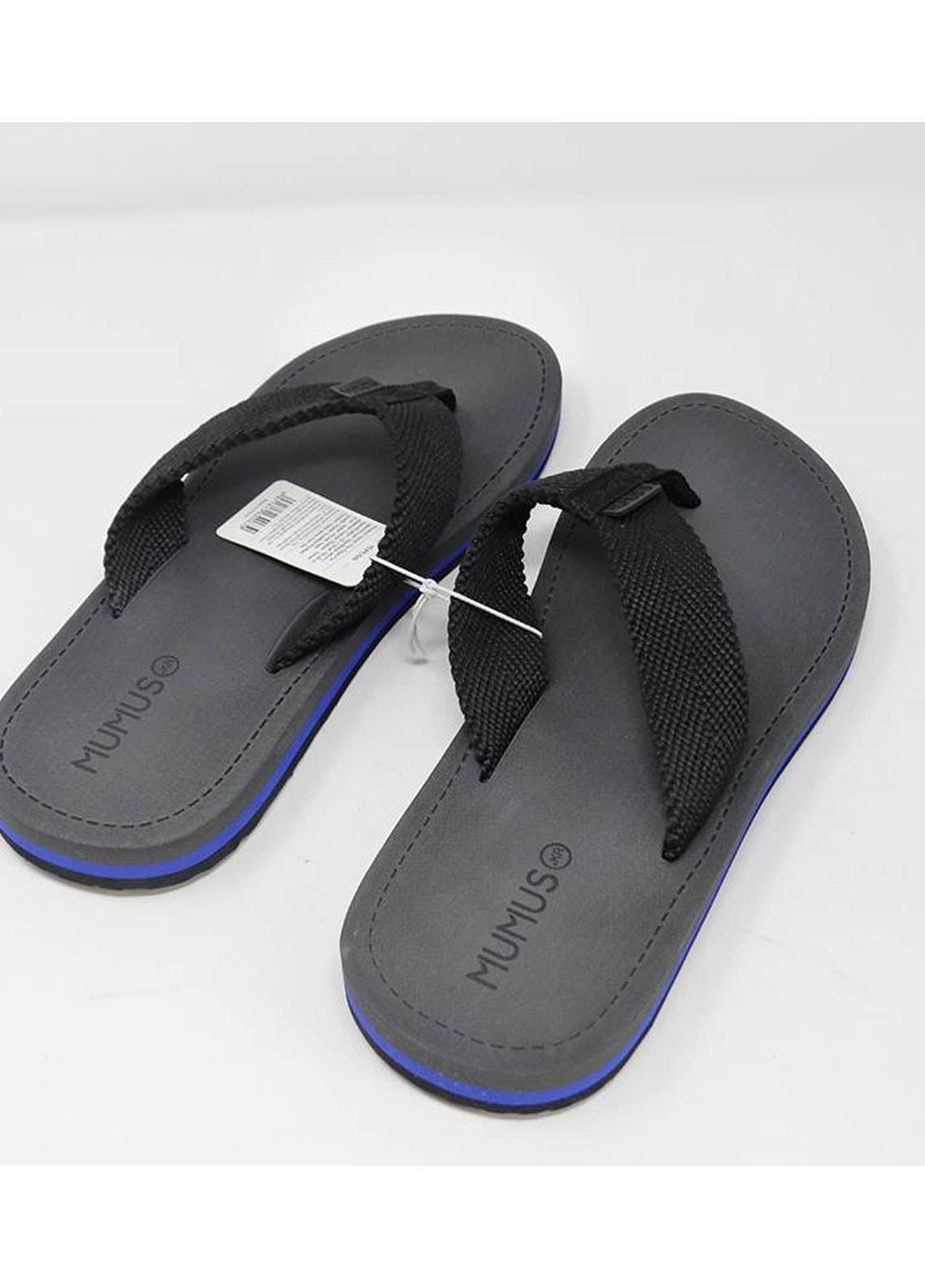 Mumuso Casual Style  Flat Flip Flop 04 M-BLACK