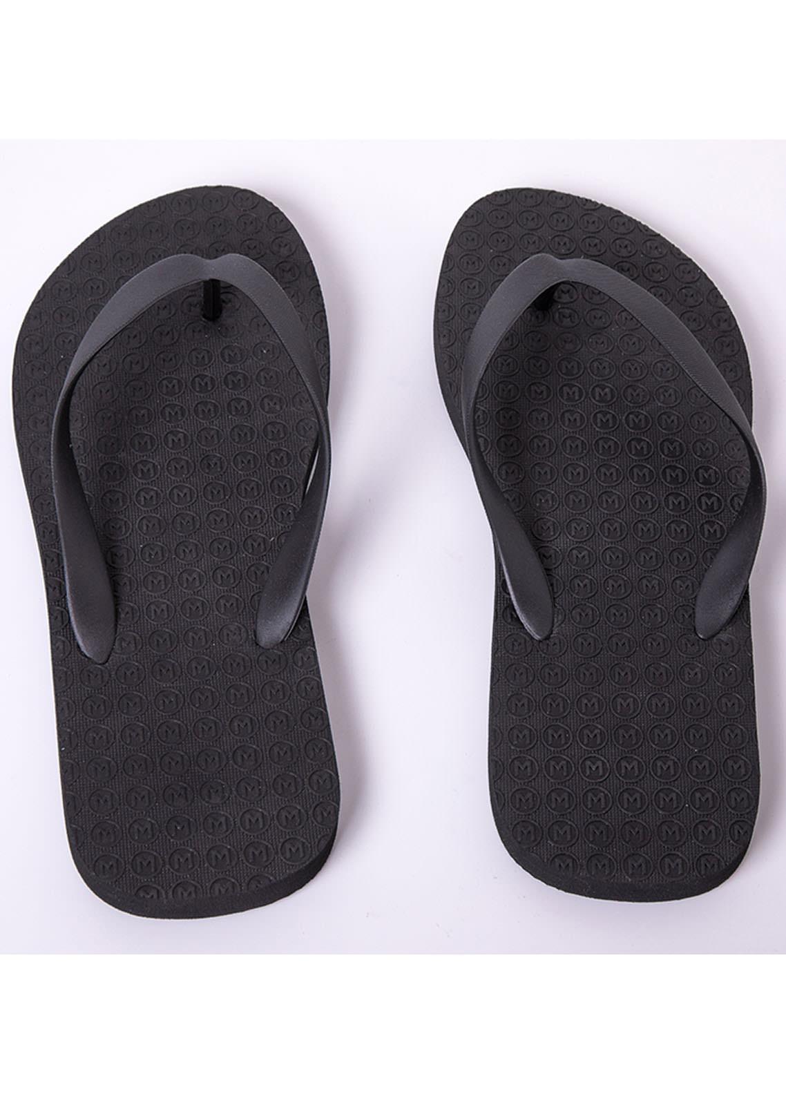 Mumuso Casual Style  Flat Flip Flop 05 LETTER M-BLACK