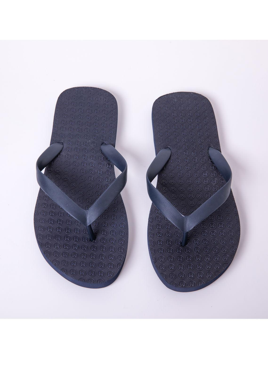 Mumuso Casual Style  Flat Flip Flop 09 LETTER M-DARK BLUE