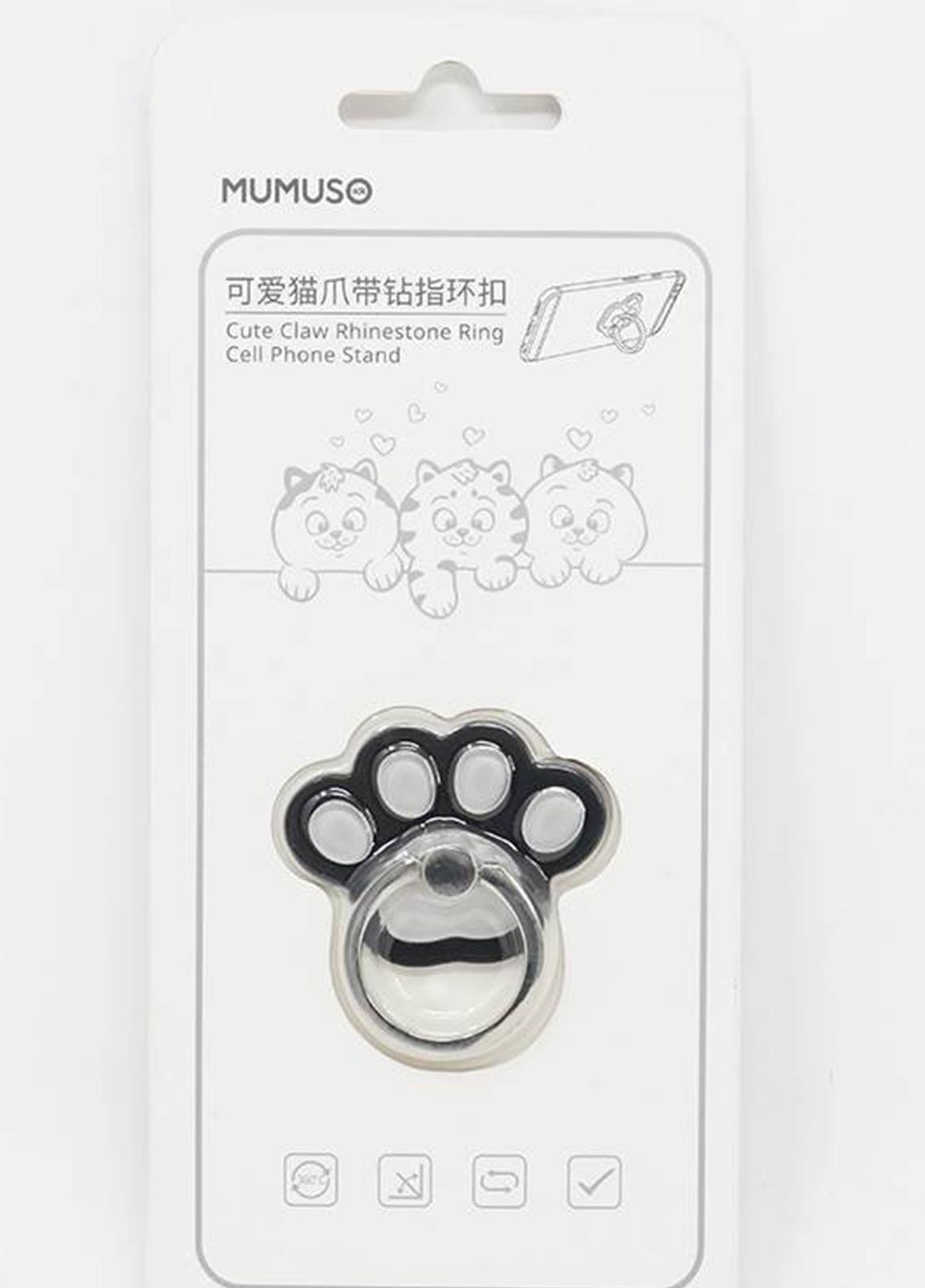 Mumuso CUTE CAT RING HOLDER-BLACK AND WHITE