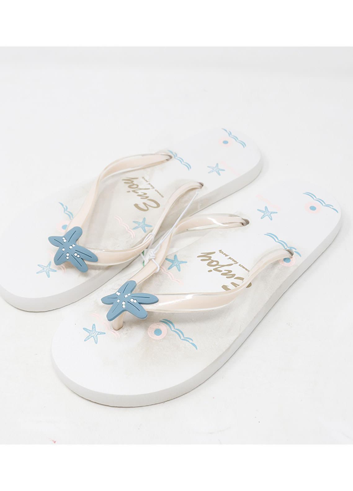 Mumuso Casual Style  Flat Flip Flop 02 STARFISH