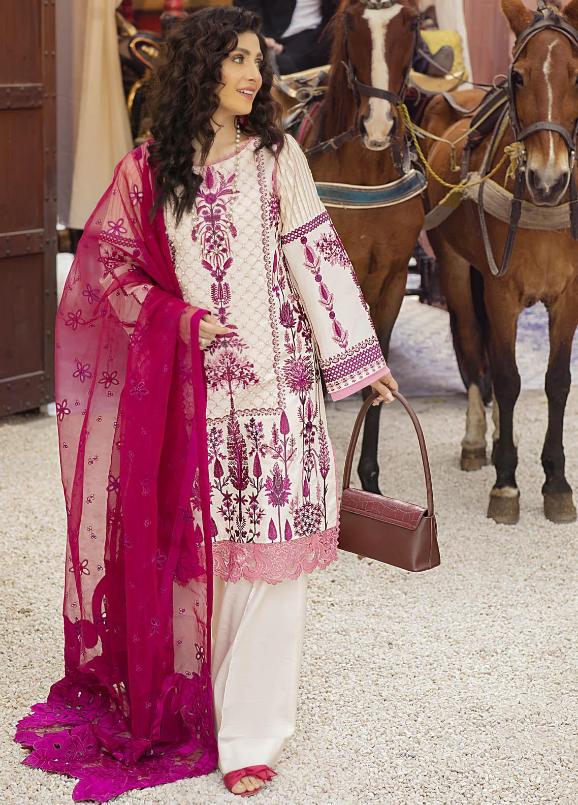 Mushq Embroidered Lawn Suits Unstitched 3 Piece MQ21L MML-11 Nouveau - Spring Summer Collection